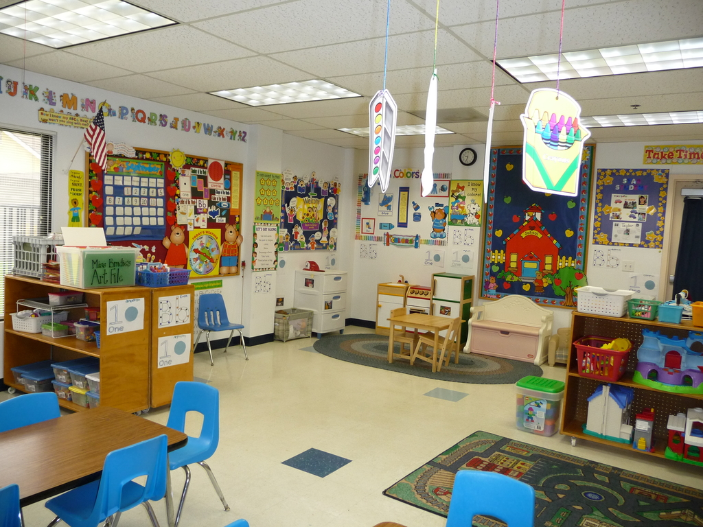 Emanuel Lutheran Preschool Students in Class
